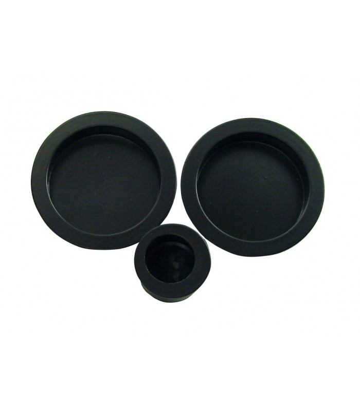 poign e encastrer 52 mm noir mat acier pour porte. Black Bedroom Furniture Sets. Home Design Ideas