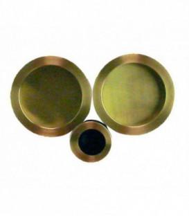 Poignée à encastrer 52 mm laitonné satiné acier pour porte coulissante ou galandage