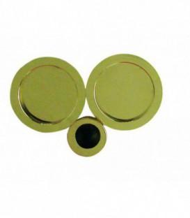 Poignée à encastrer 52 mm laitonné poli acier pour porte coulissante ou galandage