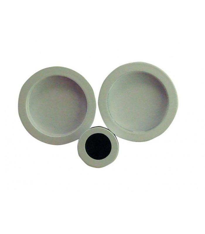Poign e encastrer 52 mm blanc acier pour porte for Porte en acier pour cabanon