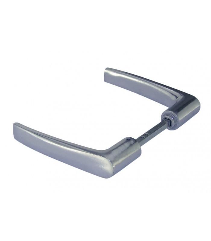 Bquille Double Aluminium Poli Carr De Mm  Poignes  Votre