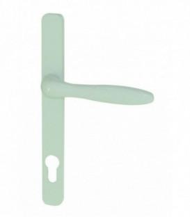 Pin ensemble de 2 poign es de porte d int rieur sur plaque - Poignee de porte d entree castorama ...