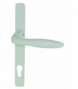 1/2 Poignée de porte d'entrée étroite blanche, CLC8EA92