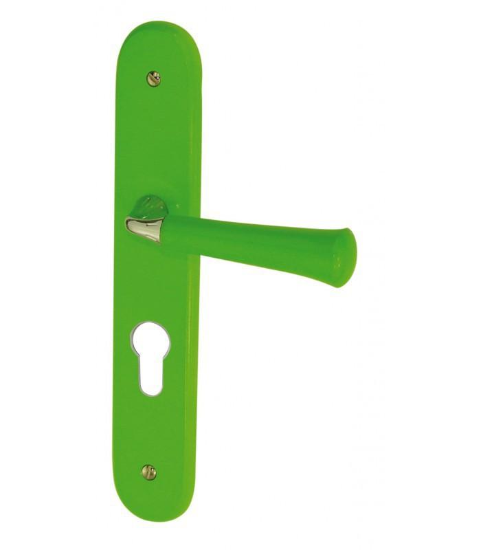 Ensemble de poign es de porte madeira vert en bois for Poignee de porte bois
