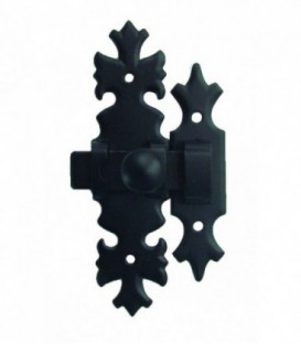 Targette ou verrou de fermeture Bretagne en acier noir