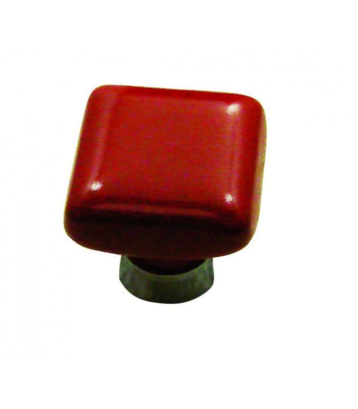 Bouton de meuble carre porcelaine de limoges 30x30 mm for Meuble 30x30