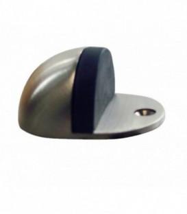 Butée de porte demi-lune zinc nickelé satiné