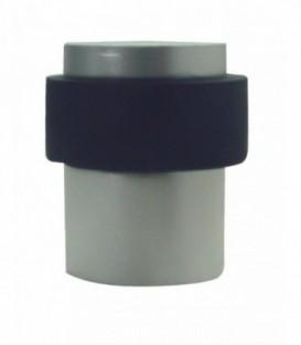 Butée de sol aluminium nickelé satiné cylindrique D.40mm