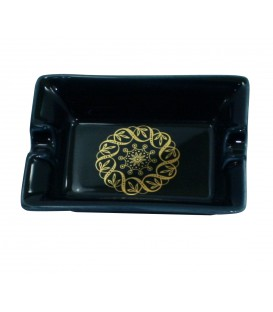 Cendrier BLACK GOLD en porcelaine de LIMOGES