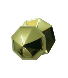 Bouton de tirage petit hexagonal pour porte d'entrée laiton massif poli titane