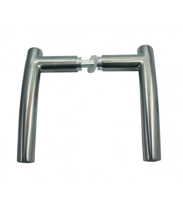 B quille double tuba inox pour porte int rieure 2 port es - Poignee de porte interieure inox ...