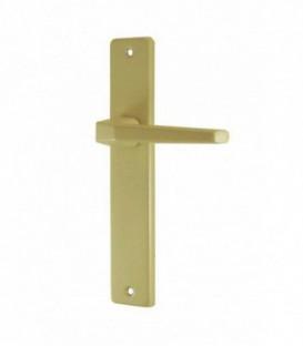 Ensemble de poignées de porte COURCHEVEL sans trou aluminium epoxy Beige SAHARA 195 mm