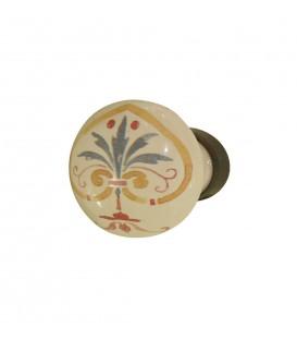 Bouton meuble rond FLORENCE D.30mm porcelaine de Limoges