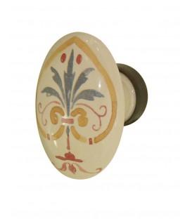 Bouton meuble Ovale FLORENCE porcelaine de Limoges