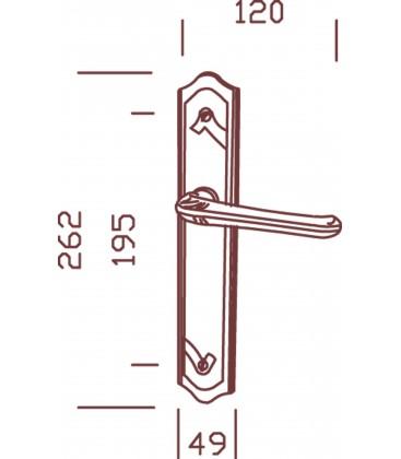 Ensemble/Plaque JAZZ Zamak/acier nickelé brossé 195 mm