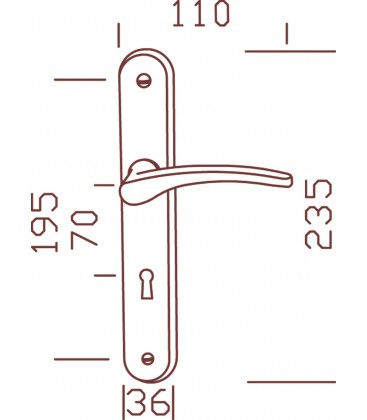 Ensemble/PLaque CLUSES Alu/Acier Laqué BLANC Serrure 195