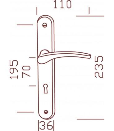 Ensemble/PLaque CLUSES Alu/Acier Laqué BLANC Cylindre 195