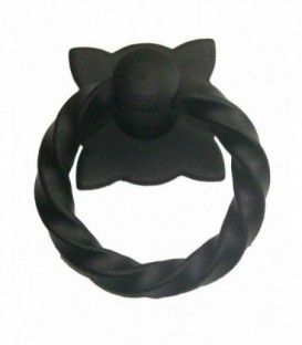 Anneau sur rosace fer noir