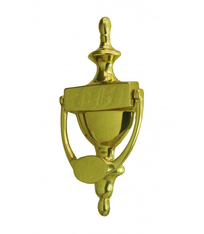 Marteau heurtoir de porte etrier classique laiton poli - Marteau de porte d entree ...