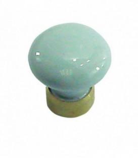 Bouton de meuble D.25mm Porcelaine bleu ciel