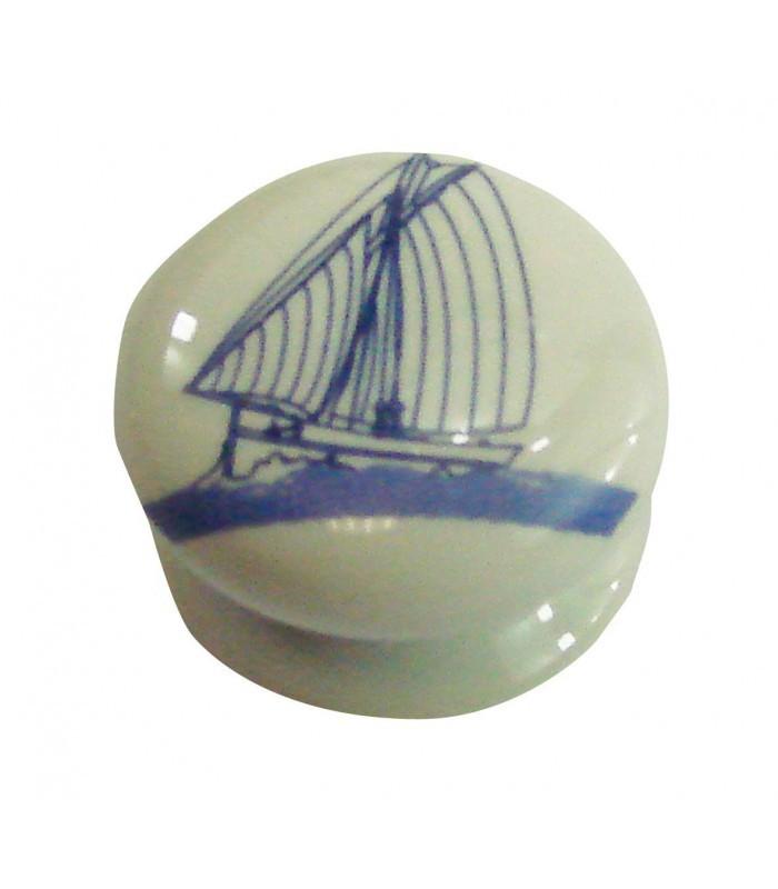 Bouton de meuble grand large en porcelaine 1001poign es votre sp cialiste de la - Bouton en porcelaine pour meuble ...