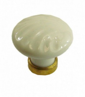 Bouton simple RELIEF ROND en porcelaine