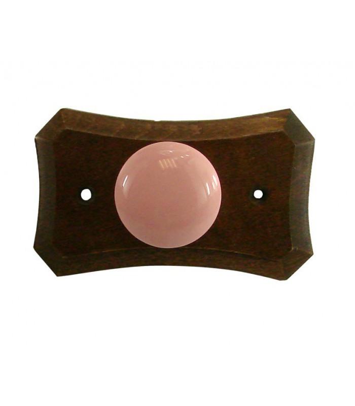 porte manteau support en bois bouton en porcelaine rose 1001poign es votre sp cialiste de. Black Bedroom Furniture Sets. Home Design Ideas
