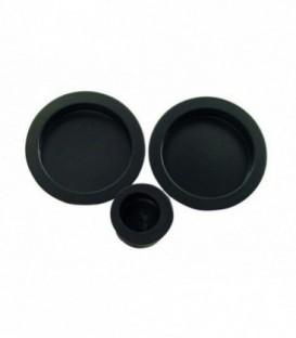 Poignée à encastrer 52 mm noir mat acier pour porte coulissante ou galandage