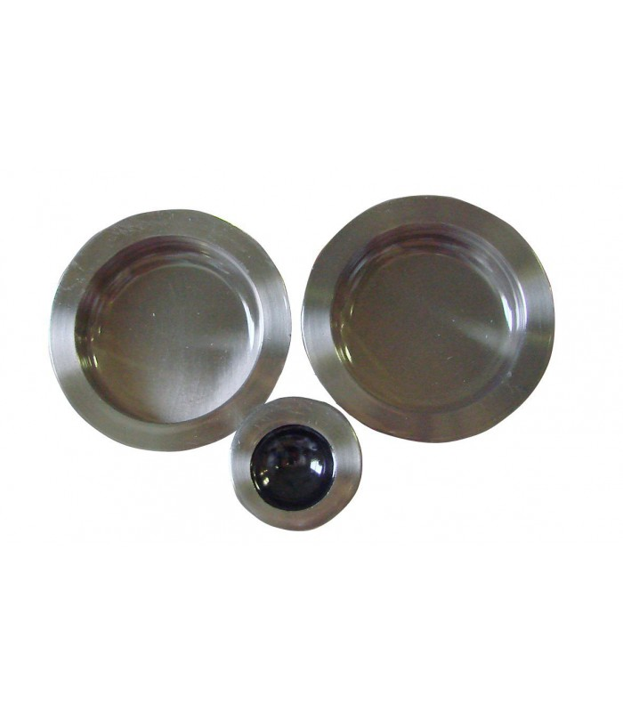 poign e encastrer 52 mm nickel satin acier pour porte coulissante ou galandage. Black Bedroom Furniture Sets. Home Design Ideas