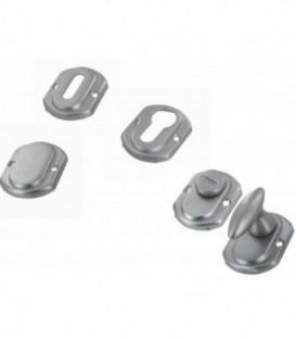 Paire de modules ou rosaces ARC EN CIEL aluminium aspect inox