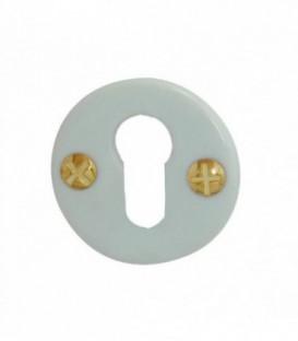 Rosace de fonction porcelaine Blanc trou cylindre