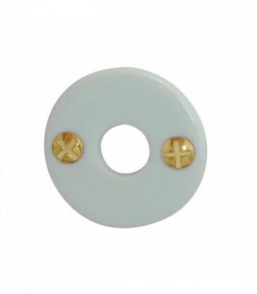 Rosace de fonction porcelaine Blanc bec de cane