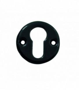 Rosace de fonction porcelaine Noir brillant cylindre