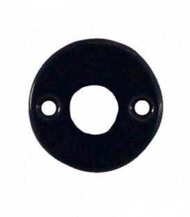 Rosace de fonction porcelaine Noir brillant trou béquille