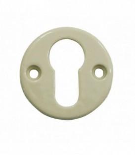 Rosace de fonction porcelaine Beige trou cylindre