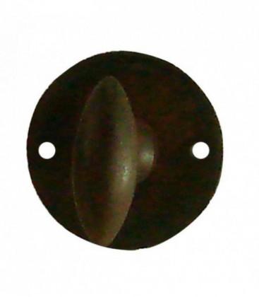 Rosace de fonction en fer forgé rouillé ciré