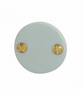 Rosace de fonction porcelaine Blanc sans trou