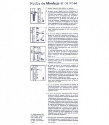 Ensemble de poignées de porte de sécurité ALPHA avec deux béquilles de manœuvre aluminium argent