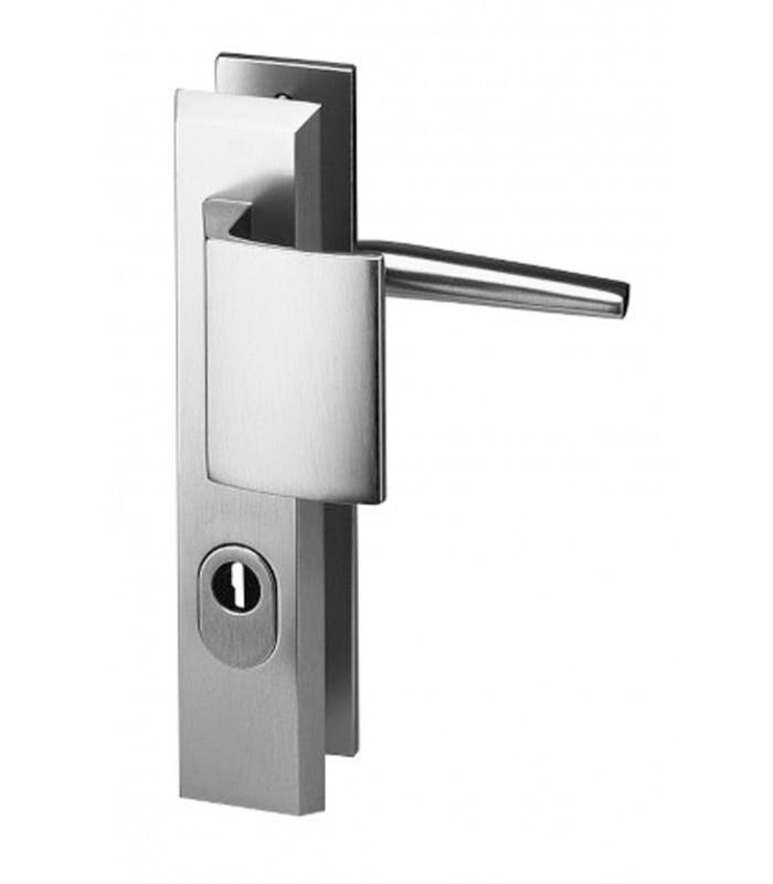 ensemble de poignes de porte de scurit alpha porte palire et bquille de manuvre aluminium argent