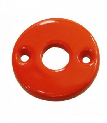 Rosace de fonction porcelaine Orange trou béquille