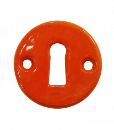 Rosace de fonction porcelaine Orange trou serrure