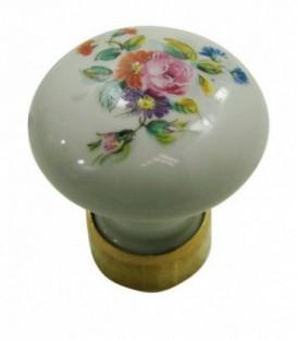 Bouton de meuble Fleurs