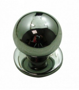Bouton BOULE sur platine laiton D.30 mm