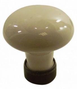 Bouton de meuble en porcelaine de Limoges BEIGE sur cuvette rouillé ciré D.35mm