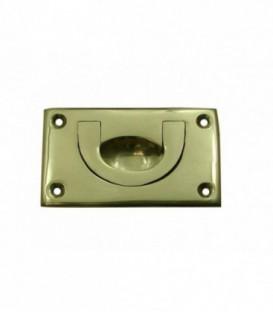 Poignée laiton ESCAMOTABLE 85 X 55 mm