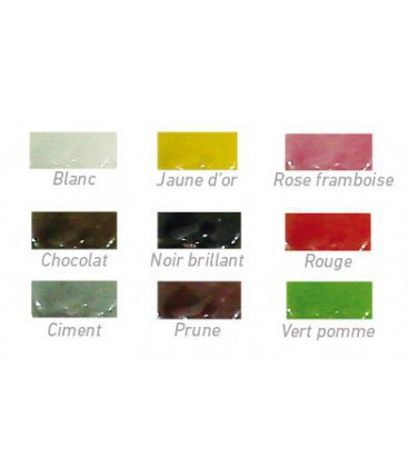 Bouton de meuble OLIVE porcelaine de Limoges 40 mm