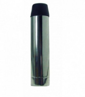 Butée de plinthe tube 70 mm aluminium nickelé satiné
