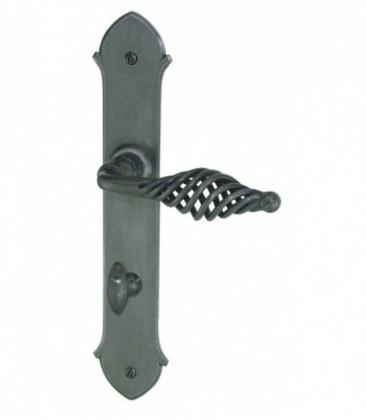 Poign es de porte bretagne fer forg gris c ment 195 mm 1001poign es votre sp cialiste de for Poignee de porte forge