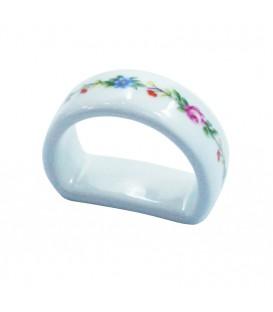 Ronde de serviette PRINTEMPS en porcelaine de LIMOGES