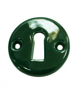 Rosace de fonction porcelaine de LIMOGES Vert Anglais BRITISH RACING GREEN